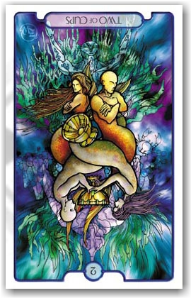 Revelations Tarot _ 2 of Cups Reversed